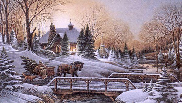 Celebrar la navidad postales de paisajes nevados navidad - Paysages de noel gratuits ...