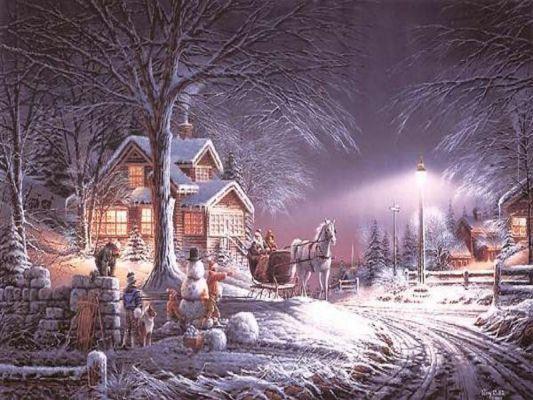 Postales de paisajes nevados navidad navidad de deseos - Paisaje nevado navidad ...