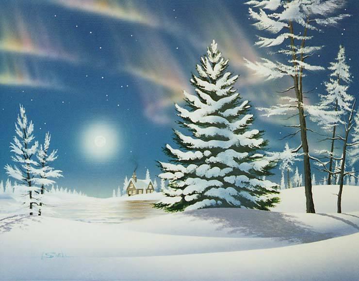 Postales de paisajes nevados navidad navidad de deseos - Dessiner un paysage d hiver ...